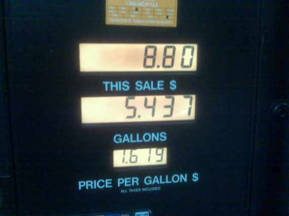 What I paid last night for gas.